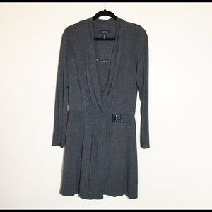 WHBM Gray Long Sleeved Knit Dress. Size 10